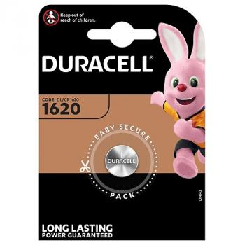 DURACELL Batterie Lithium, Knopfzelle, CR1620, 3V Electronics, Retail Blister (1-Pack)