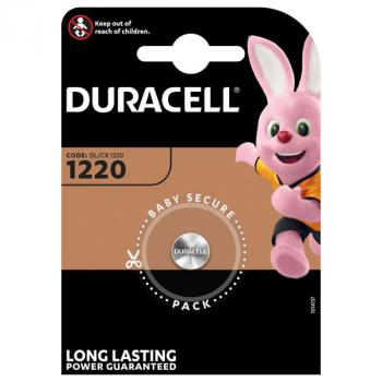 DURACELL Batterie Lithium, Knopfzelle, CR1220, 3V Electronics, Retail Blister (1-Pack)