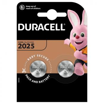 DURACELL Batterie Lithium, Knopfzelle, CR2025, 3V Electronics, Retail Blister (2-Pack)